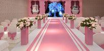 浪漫色系婚庆大厅布置3D模型