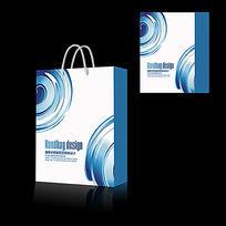 蓝色科技IT企业手提袋