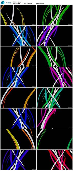 led光效波浪花纹运动线条舞台视频背景素材 mp4