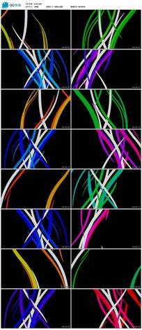 led光效波浪花纹运动线条舞台视频背景素材