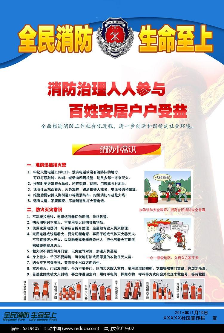 社区消防安全宣传海报