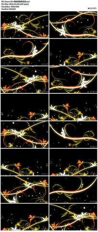 矢量图花藤花边花纹循环播放高清视频舞蹈模特素材