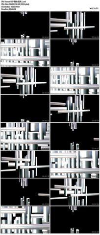 唯美炫丽闪光玻璃质感围栏背景视频素材