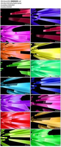 线条散播动感玻璃质感大屏幕渐进舞台走秀背景视频素材