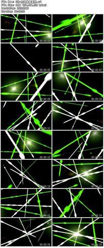 夜店led闪烁炫丽绿色线条交汇视频演绎背景素材