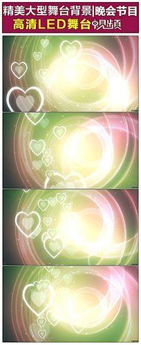 爱心粒子闪烁光圈婚礼婚庆动态视频
