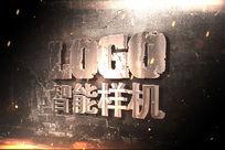 斑驳墙面上的立体LOGO样机