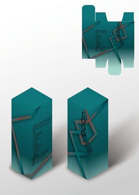 粗线条商务高档包装盒模板