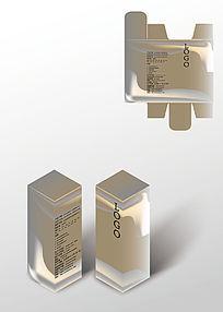 淡土黄保健品包装盒模板