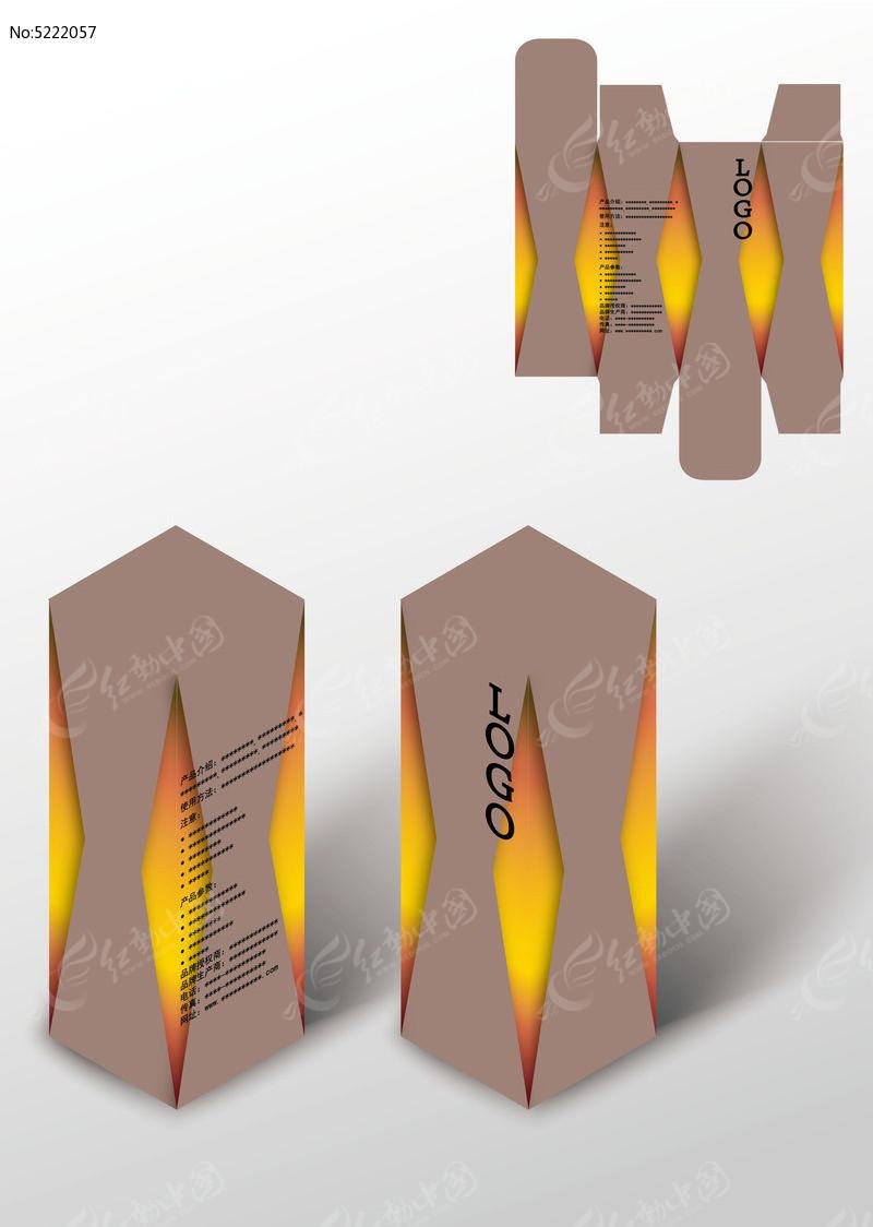 对称奢华礼品包装盒模板图片