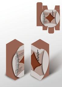 简约图案设计包装盒模板