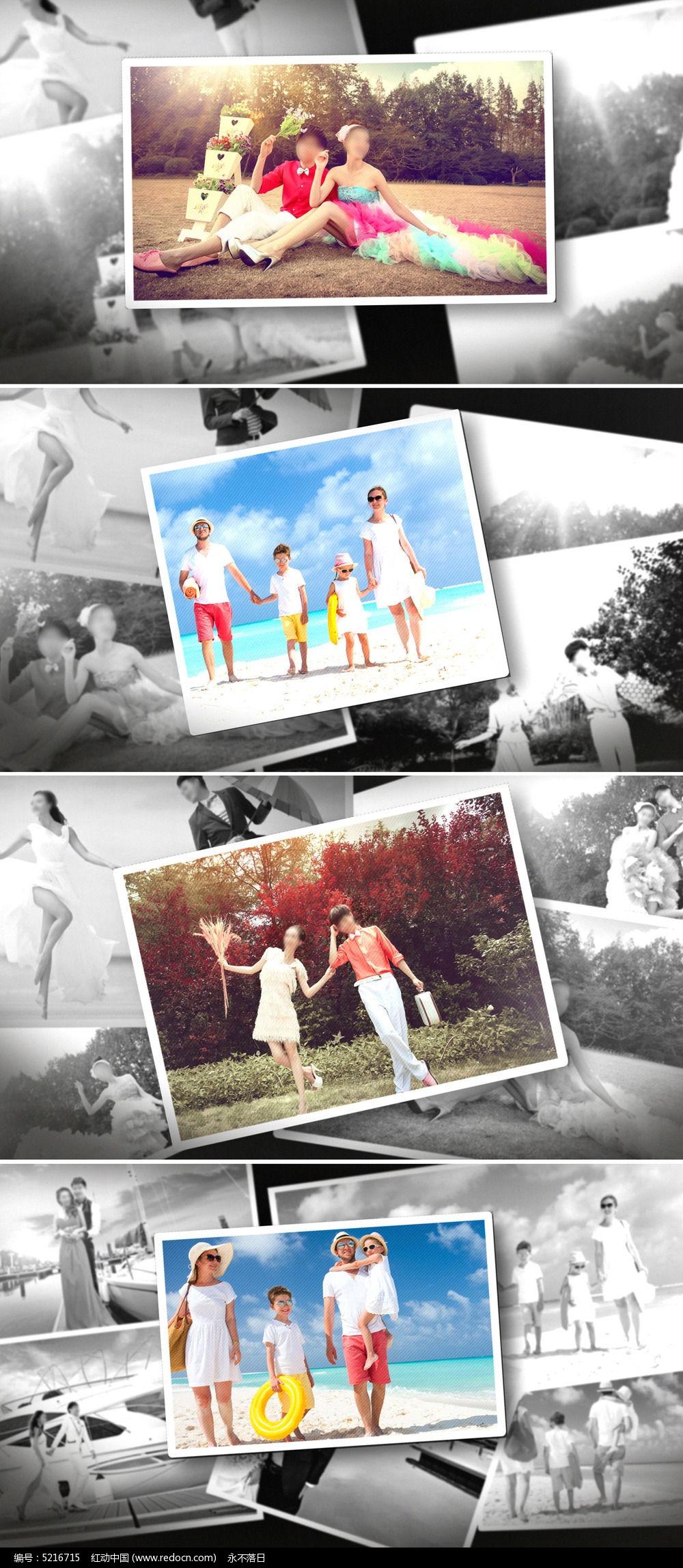 家庭回忆纪念相册模板图片