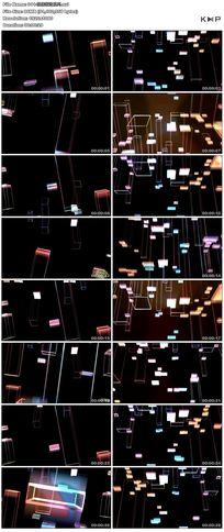 炫丽运动光环运动柱子线条舞台背景视频素材