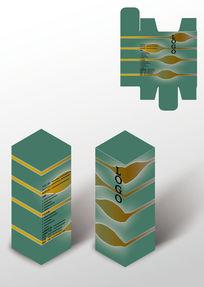 绿色药品保健品包装盒模板