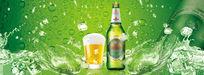 清凉啤酒广告PSD素材