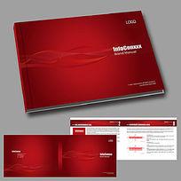 企业画册红色封面版式设计横版
