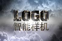 云彩中的立体LOGO样机