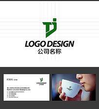 TJ字母公司logo设计