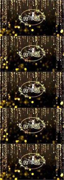 高端欧式婚礼logo舞台背景视频素材