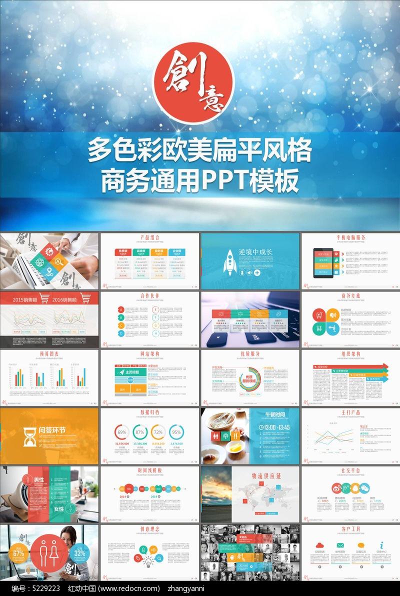 商业策划书品牌宣传企业介绍ppt模板