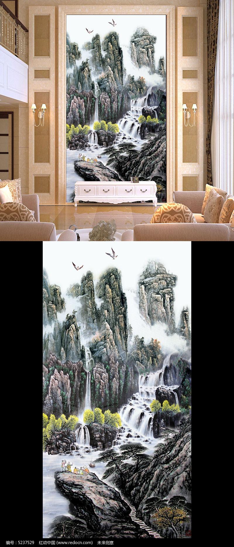 隔断 客厅玄关 玄关玻璃隔断 玄关屏风隔断 高清壁纸 影壁画 山水画