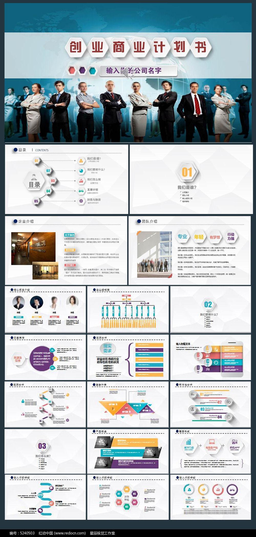 风格创业计划书项目融资合作PPT