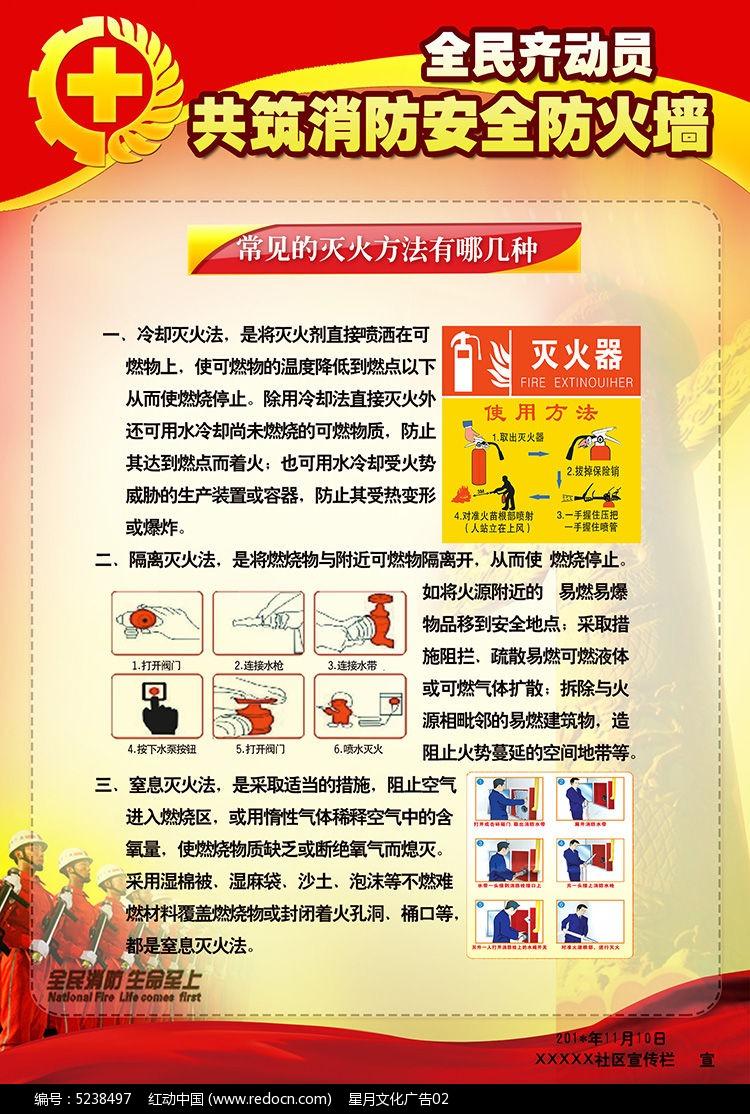 消防宣传栏展板模板 消防 消防日 消防展板 全国消防宣传日 全民消防