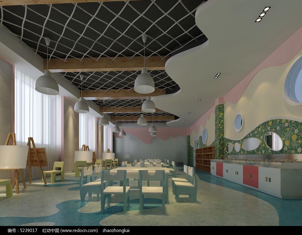 幼儿园美术教室复古型模型素材max图片