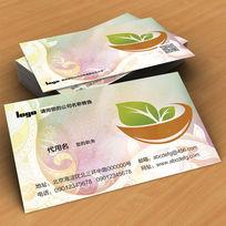 中式花纹茶叶psd名片素材下载