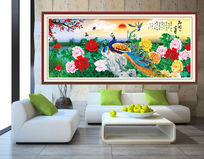 花开富贵室内装饰画