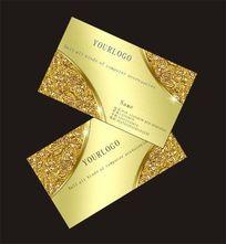 欧式花纹企业名片设计模板