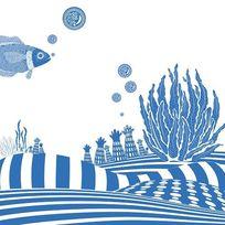 日式矢量水上世界海洋生物 AI