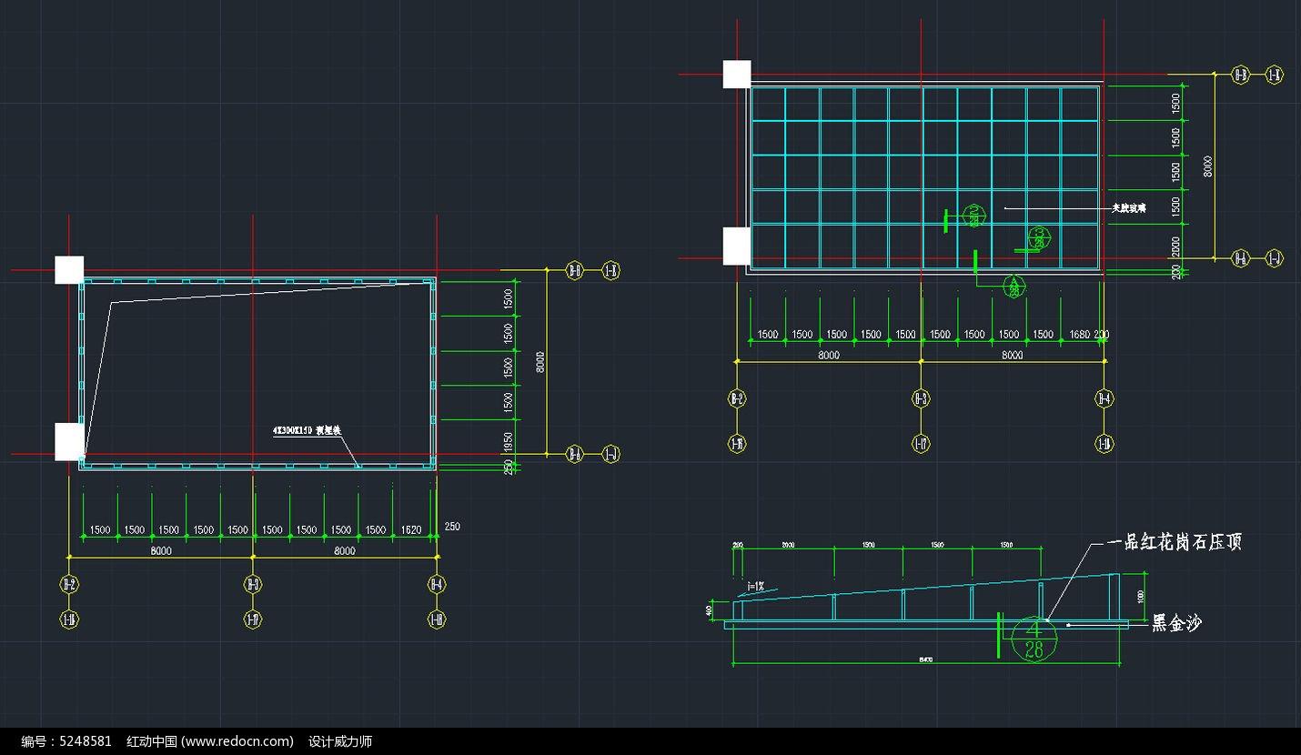 地下玻璃车库素材入口CAD素材图片顶棚minicadviwer图片