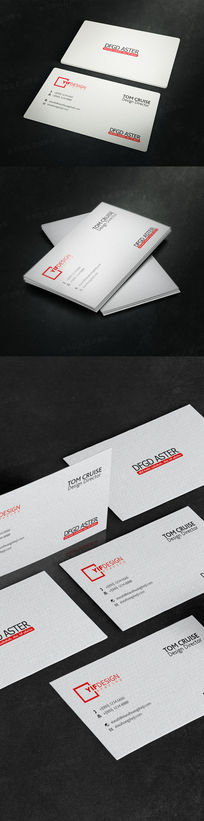 灰色大气底纹企业名片设计