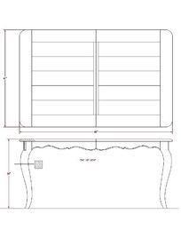 弧形腿餐桌CAD素材