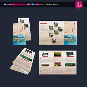 简洁农业旅游中国风三折页设计
