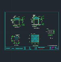 景观亭三视图CAD素材
