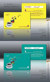 咖啡厅创意VIP卡设计模板图片