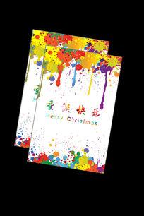 圣诞节水墨风格海报图片