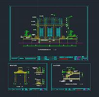 台阶与石灯设计图CAD素材