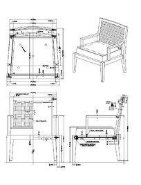 藤椅生产图CAD素材 dwg