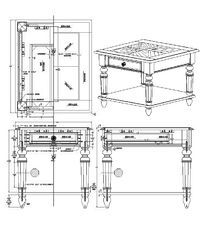 桌子CAD素材 dwg