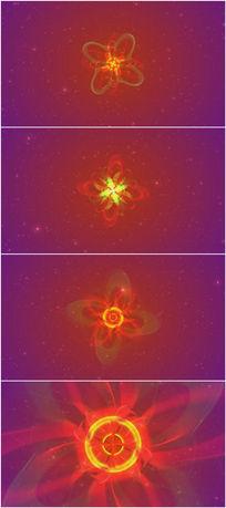 2k超清炫彩花瓣绽放背景视频素材