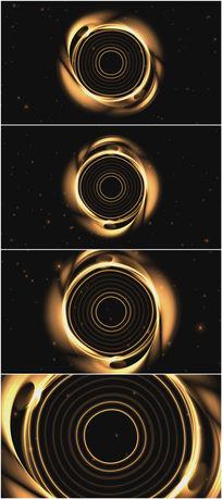 2k超清金色螺旋环背景视频素材