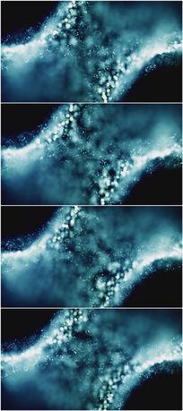 2k超清循环蓝色粒子云团背景视频素材