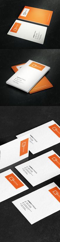 竖版IT科技名片设计