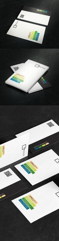 竖版简约生物科技名片设计