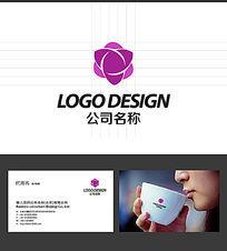 花蕾化妆品LOGO标志设计 AI