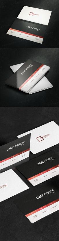 简约网络科技公司名片设计