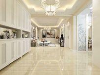 白色简中室内客厅过道3D设计模型